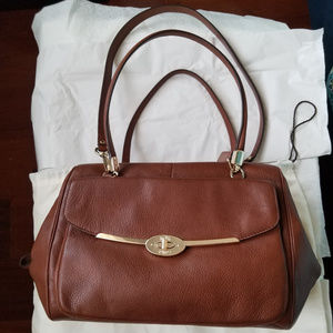 COACH MADISON MADELINE E/W LEATHER HANDBAG SATCHEL